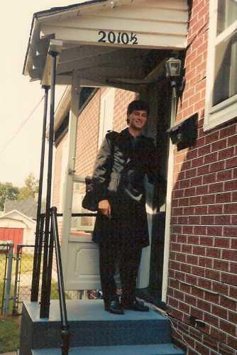 Me at my front door,1989