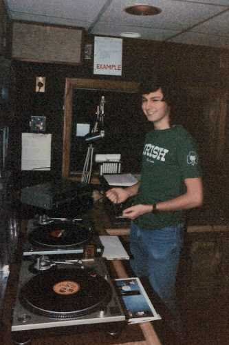 Me on the air at WMHD in 1987