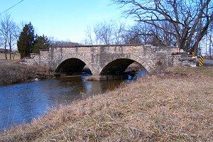 1800s bridge along the Michigan Road, southern Indiana