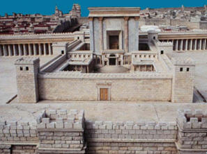 The second temple after Herod\'s renovation and expansion