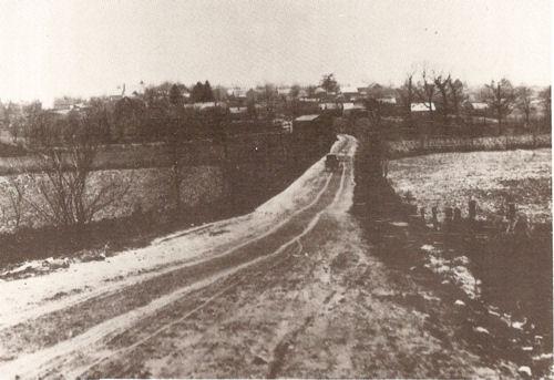 Southbound Michigan Road leading to Burlington