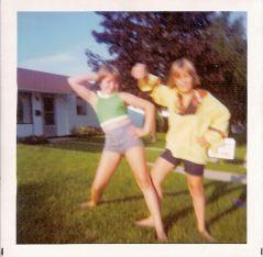 Summertime children on Lancaster Drive