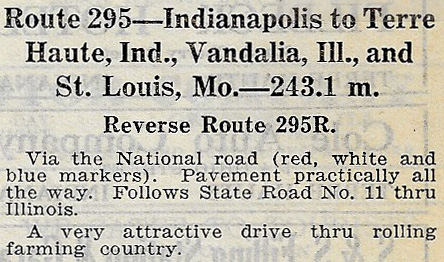 From a 1924 road guide - at last, hard-surfaced all the way!