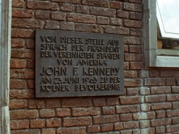 John Kennedy spoke here, Cologne