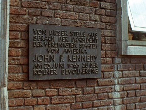 John Kennedy spoke here, Cologne