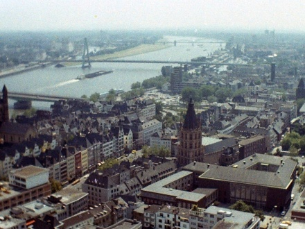 Cologne and the Rhein River