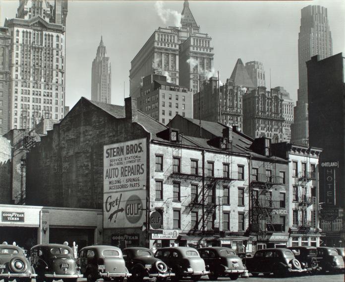 Vista from West Street, 115-119 West Street, Manhattan, 1938